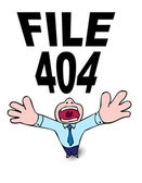 404 file not found — Stock Vector