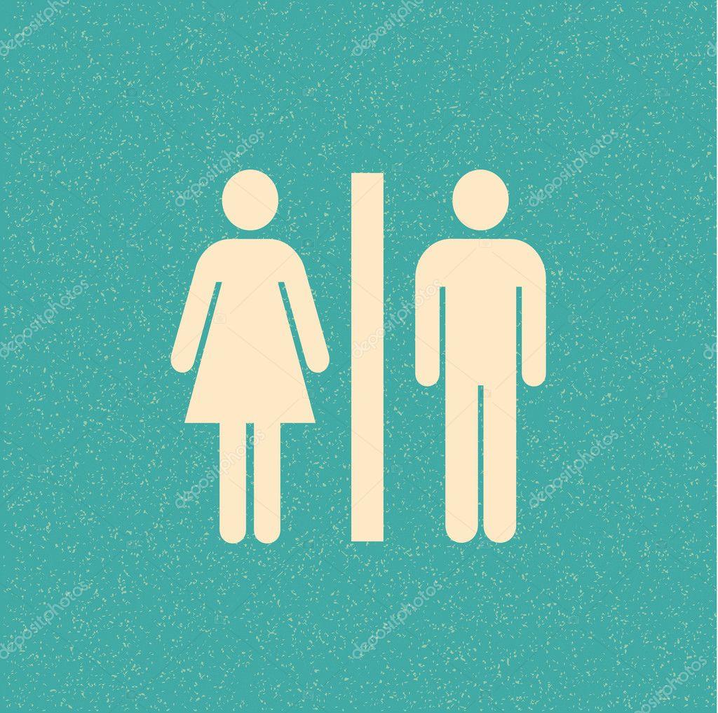 Baixar Poster retro de banheiro — Ilustração de Stock #7199120 #BB8110 1024x1018 Baixar Banheiro Para Autocad