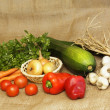 Organic homegrown vegetable — Stock Photo