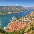 Panorama Unesco bay of Kotor, Montenegro — Stock fotografie