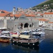 Marina of old Dubrovnik, Croatia — Stock Photo