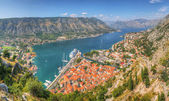 Panorama Unesco bay of Kotor, Montenegro — Stock Photo