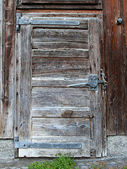 Withered shed door — 图库照片
