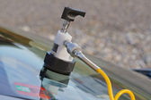 Repair crack in windshield — Stock Photo