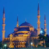 Blue Mosque at night — Foto Stock