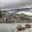Bridge Ponte dom Luis, Oporto, Portuga — Stock Photo