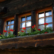 Royalty-Free Stock Photo: Window front of a traditional swiss farmer house