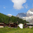 Swiss mountain village — Stock Photo