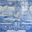 Blue handpainted tiles, Azulejos — Stock Photo #6890585