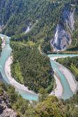Lodowiec ekspresowe dyski oprócz rzeki ren zakręt — Zdjęcie stockowe