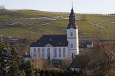 Grande chiesa bianca — Foto Stock