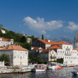 Quiet historic town of Perast,  Montenegro — Stock Photo