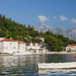 Quiet historic town of Perast , Montenegro — Stock Photo