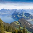 Lake Lucerne mountain view , Switzerland — Stock Photo
