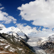 Glacier scenery of swiss alps — Stock Photo