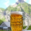 Stock Photo: Beer in mountain scenery