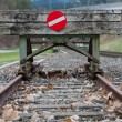 Stock Photo: Wooden buffer stop concept