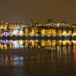 Постер, плакат: Vila Nova de Gaia at night opposite Porto Portugal