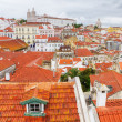 Stock Photo: Over the red roofs of Lisboa, Portugal