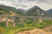 Durdevica arched Tara Bridge, Montenegro — Stock Photo