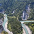 Rhine canyon near Flims Switzerland — Stock Photo