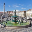 Rossio Square the heart of Lisbon — Stock Photo