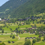 Walser village in Switzerland — Stock Photo