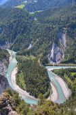 Canyon di reno vicino flims in svizzera — Foto Stock