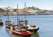 Port boats Oporto, Portugal — Stock Photo