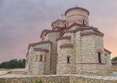 Church Saint Panteleimon in Ohrid Macedonia at sunset — Stock Photo