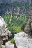 Deep narrow valley — Stock Photo