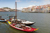 Port boats on Duora Porto, Portugal — Stock Photo