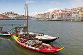 Port boats on Duora Porto, Portugal — Stock Photo