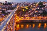Ponte ponte dom luis sopra, portogallo — Foto Stock