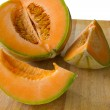 Sliced cantaloupe melon — Stockfoto #7037830