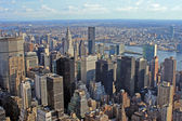 View over New York skyline — Stock Photo
