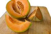 Melão melão fatiado — Fotografia Stock