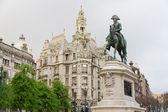 Porto: King Dom Pedro IV, Oporto, Portugal — Zdjęcie stockowe