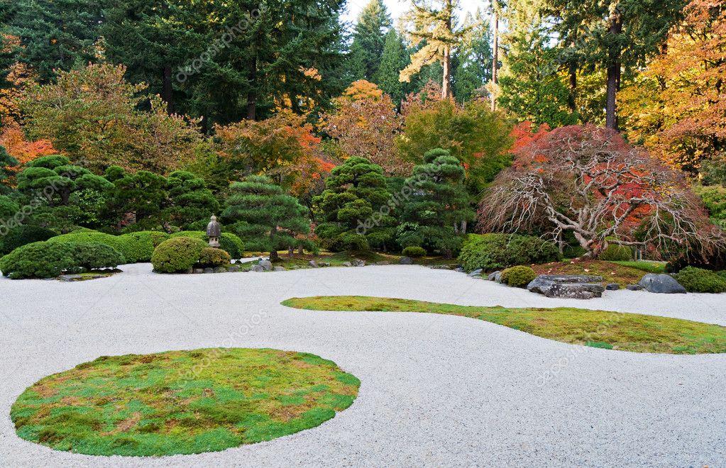 Portland Oregon Japanese Garden Stock Photo mlehmann