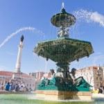 Fountain on Rossio square, Lisbon — Stock Photo #7148718