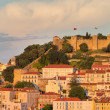 Castle Sao Jorge at sunset in Lisboa, Portugal — Stock Photo #7148878