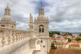 Mannerist style roof of monastery St. Vincent Outside the Walls, Lisboa — Stock Photo
