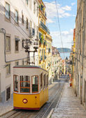 Lisbon's Gloria funicular, Portugal — Stock Photo