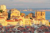 Lisbonne au coucher du soleil, portugal — Photo