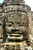 Bayon face close-up — Stock Photo