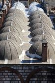Cupolas of a mosque roof — Stock Photo