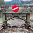 Wooden buffer stop concept — Stock Photo