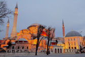 Hagia Sophia at night, HDR image — Stock Photo