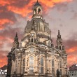 Church of our lady at sunset, Dresden — Stock Photo #7249266