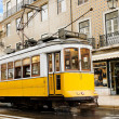 Classic yellow tram of Lisbon, Portugal — Stock Photo